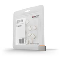 Lindy USB Type C Port Blockers, orange, 10pcs