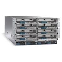 Cisco UCS 5108 Blade Server AC2 Chassis, 0 PSU/8 fans/0 FEX Netwerkchassis - Grijs