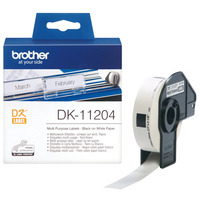 Brother Multifunctionele labels papier 17 x 54 mm Labelprinter tape - Wit