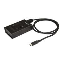 StarTech.com 4 poorts USB hub USB-C naar 3x USB-A en 1x USB-C USB 3.0 metaal Interface hub - Zwart
