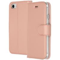 Accezz Wallet Softcase Booktype iPhone SE (2020) / 8 / 7 / 6(s) - Rosé Goud / Rosé Gold