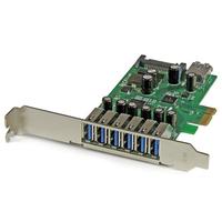 StarTech.com Carte contrôleur PCI Express à 7 ports USB 3.0 - 6 externes 1 interne - Adaptateur PCIe avec .....