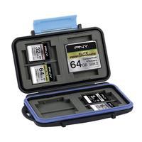 PNY Memory Card Case, 8x SD + 4x CompactFlash - Zwart, Blauw