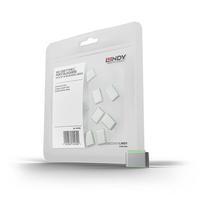 Lindy USB Type C Port Blockers, green, 10pcs - Groen
