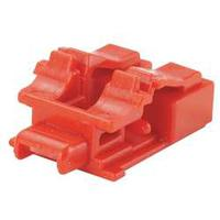 Panduit 10 x LC duplex adapter blockout devices and one removal tool, Red Kabelbeschermer - Rood