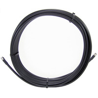 Cisco 20ft, LMR-400 cable with a TNC male and N female connectors Câble coaxial - Noir