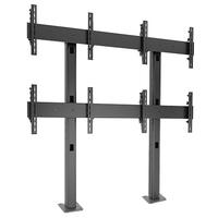 Chief FUSION 2 x 2 Micro-Adjustable Large Bolt-Down Freestanding Video Wall TV standaard - Zwart