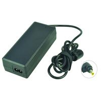 2-Power AC Adapter 19V 3.75A 75W inc. mains cable Netvoeding & inverter - Zwart