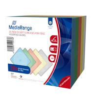 MediaRange CD-Leerhülle, schmal, für 1 Disc, 5mm, farbig sortiert, 20er Pack