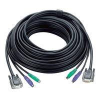 Aten 30ft PS/2 Câbles KVM - Noir