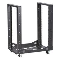 Black Box Mobile Open Rack - 4-Post, 19U étagères - Noir