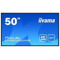 """Iiyama 49.5"""", 3840x2160, VA, 16:9, VGA, DVI, HDMI, DP, RJ-45, RS-232C, USB, Android OS 8.0, 1128.4x649x63.5 mm ....."""