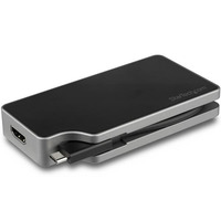 StarTech.com Adaptateur multiport AV numérique - Sorties vidéo VGA, DVI, HDMI, mDP - PD 85 W - Noir,Gris