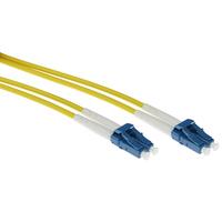 ACT 30 meter singlemode 9/125 OS2 duplex armored fiber patch kabel met LC connectoren Fiber optic kabel - Geel