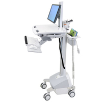 Ergotron StyleView EMR Cart with LCD Pivot, LiFe Powered, EU Multimedia karren & stands - Aluminium,Grijs,Wit