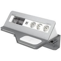 Kindermann CablePort desk² Inbouweenheid - Grijs, Wit