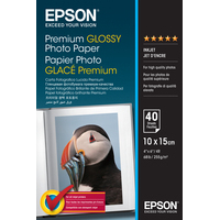 Epson Premium Glossy Photo Paper Fotopapier - Wit