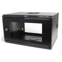 StarTech.com 6U 19 inch Serverrack Serverkast Wandmontage met Acryl Deur Stellingen/racks - Zwart
