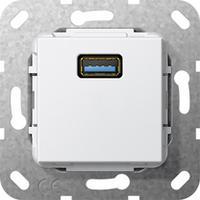 GIRA Basiselement USB 3.0 Type A Verloopkabel, zuiver wit glanzend Dop aansluitdoos