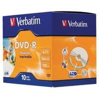 Verbatim DVD-R 4.7GB, 16x, 10 Pack, Jewelcase DVD vierge
