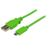 StarTech.com Micro-USB-kabel 1 m, groen USB kabel