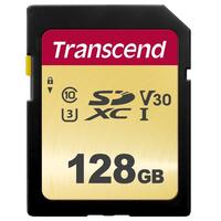 Transcend 128GB UHS-I U3 SD Mémoire flash - Noir