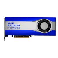 AMD PRO W6800 Carte graphique - Bleu,Acier inoxydable