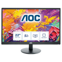 AOC 70 Series 21.5 inch 1920x1080@60Hz 5 ms TN HDMI 1.4 x 1, VGA Monitor - Zwart