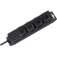 Brennenstuhl Power strip 4 socket IP44 Protecteur tension - Noir