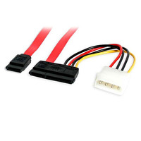 StarTech.com 18in SATA Serial ATA Data and Power Combo Cable ATA kabel - Rood