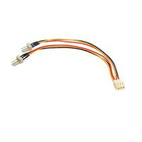 StarTech.com Câble Y d'alimentation pour Ventilateur TX3 - Câble Répartiteur 3 broches pour PC -15cm