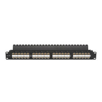 Black Box Platine CAT5e HD à passage direct Panneau de brassage - Noir