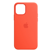 Apple iPhone 12, 12 Pro Silicone Case with MagSafe - Electric Orange