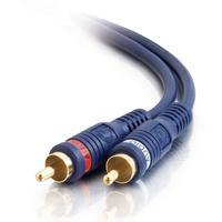 C2G 2m Velocity RCA Audio Cable - Noir