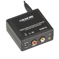 Black Box Digital Audio Converter - 5.1 Channel, 24 bit/SPDIF, 32/44.1/48/96kHz, SNR >90dB, Convertisseur .....
