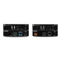 Atlona Multi-channel, USB 2.0, 4K/UHD 60 Hz with 4:2:0, LED indicators, 120 Mbps Prolongateurs réseau - Noir