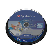 Verbatim Datalife 6x R/W blue-raydisks (BD)