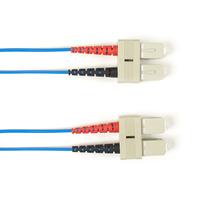 Black Box Câble de raccordement OM4 multimode coloré - LSZH Duplex Câble de fibre optique - Bleu