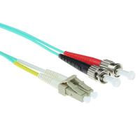 ACT 20 meter LSZH Multimode 50/125 OM3 glasvezel patchkabel duplex met LC en ST connectoren Fiber optic kabel - .....