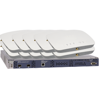 Netgear ProSAFE WC7600 + 10 WAC720 Access Points met 10 licenties Bundel Gateway/controller - Zwart