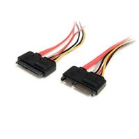 StarTech.com 30cm 22-pins SATA Voeding en Data Verlengkabel ATA kabel - Rood