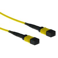 ACT 3 meter Singlemode 9/125 OS2 glasvezel patchkabel polarity A met MTP female connectoren Fiber optic kabel - Geel