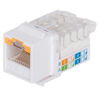 Intellinet Keystone Jack, Cat6, UTP, Toolless, Locking Function, White - Wit