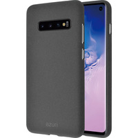 Azuri Flexible cover met zand textuur - grijs - voor Samsung Galaxy S10