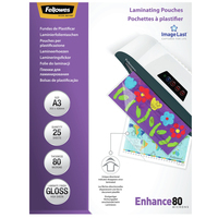 Fellowes ImageLast 80 micron glanzend A3-25pk Lamineerhoes - Transparant