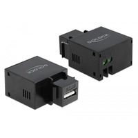 DeLOCK Keystone module USB Typ-A port de chargement 2.1 A, noir