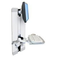 Ergotron StyleView Vertical Lift, Patient Room Monitorarm - Wit