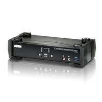 Aten Commutateur KVMP™ DisplayPort 4K 2 ports USB 3.0 (câbles inclus) Commutateur KVM - Noir