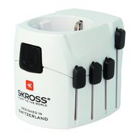 Skross PRO Netstekker/adapter - Zwart, Wit