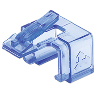 Intellinet RJ45 Repair Clip, For RJ45 modular plug, Transparent Blue, 50 pack Kabelklem - Blauw,Transparant